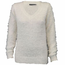 Fleece Normalgröße Damen-Pullover & -Strickware mit V-Ausschnitt