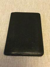 LOUIS VUITTON Epi Monogram Card Case ID Pocket Organizer Poche Black Leather