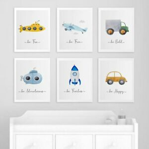 Car Inspiring Quote Child Poster Nursery Canvas Print Wall Art Painting Nordic