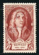 STAMP / TIMBRE FRANCE OBLITERE N° 855 / CELEBRITE / ANTOINE WATTEAU