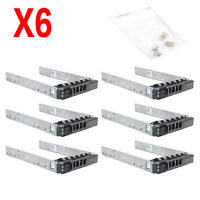 "6Pcs 2.5"" SAS SATA Hard Drive Tray Caddy for DELL PowerEdge R610 R710 R720 T710"