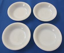 4 Fire King White Restaurant Ware Berry Bowls