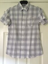 Jack & Jones Small Mens Shirt Grey White Chequered Checkered Squares Brand New