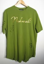 Nokwal Collection 3 Streetwear Brand Distressed Curved Hem T-shirt size Large