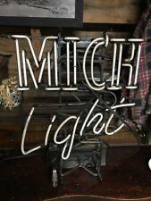 Vintage Old Anheuser-Busch Mich Light Beer Neon Sign Beer Bar Pub Man Cave Rare