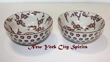 """Porcelain/Ceramic rice Bowl Set of 2 Pieces 4.5""""d. x 2.25""""h Flower Designed"""
