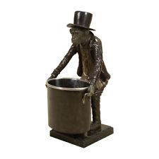 Maitland-Smith 8125-12 Bronze & Verdigris Finished Brass Monkey Wine Holder New