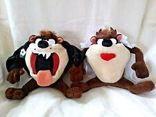 Vintage 1994 Tasmanian Devil Wedding Bride Groom Plush Animals Taz Looney Tunes