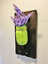 Rustic Farmhouse Mason Jar Wall Sconce Vase