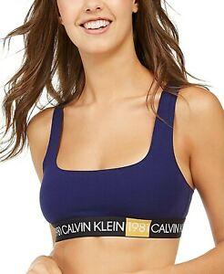 Calvin Klein Underwear 1981 Racerback Bralette QF5577 Purple Night Medium NWT