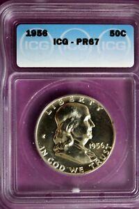 1956 - ICG PR67 Franklin Half Dollar!!  #B27924