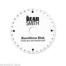 """Double Density 3/4"""" thick Kumihimo Round Disk Plate 6 inch ~Japanese Braiding"""