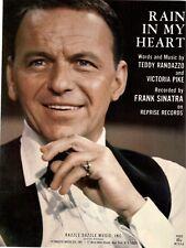 FRANK SINATRA-RAIN IN MY HEART-PIANO/VOCAL/GUITAR SHEET MUSIC-1967-RARE-NEW-MINT