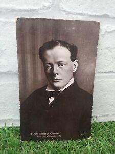 Winston Churchill Young MP vintage Postcard
