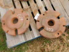 John Deere M Tractor Two Rear Wheel Weights Part M34t Tag 657
