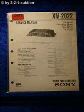 Sony Service Manual XM 2022 Power Amplifier (#2892)