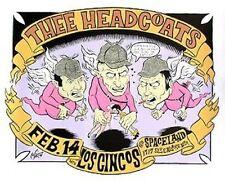 Headcoats Los Cincos Spaceland Poster Designer Artist C Martin