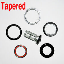 "Road Tapered Headset 1-1/8"" 1-1/2""Integrated Black Bicyle frame Part Steerer"