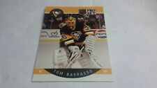 1990-91 pro set hockey card #227 Tom Barrasso team Pittsburgh penguins