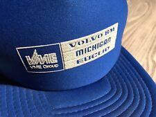 🔥Volvo BM Michigan Euclid VME Group mesh snapback baseball trucker hat USA Blue