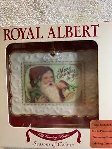 Royal Albert Porcelain Postcard Victorian Christmas Ornament Santa Personalize