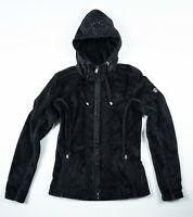 Women's Bogner Ski Sport Fleece Polar Hooded Jacket Skiing Luxury Black XS 34