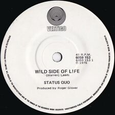 Status quo ORIG OZ 45 Wild side of life NM '76 Vertigo 6059153 Boogie Rock