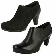 Clarks High Heel (3-4.5 in.) Textile Boots for Women