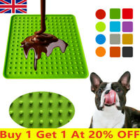 Pet  Food Mat for Dog Cats Feeder Slow Licky Mat Licki Feeding Dogs Cat uk