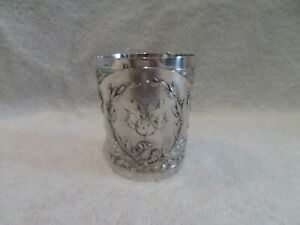 Magnificent French 950 silver beaker Louis XVI style Ravinet silversmith