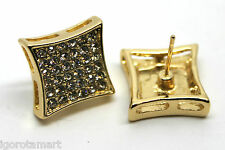 Men's Man's Icy Gem Crystal Gold Plated Earring Ear Stud  Studs