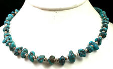 Vintage 27 Inch Native American Turquoise Heishi Necklace