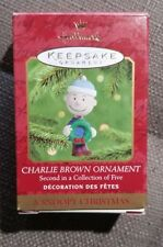 """Hallmark Keepsake Ornament Charlie Brown 2nd in Collection 5 """"A Snoopy Chrismas"""""""