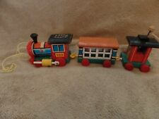 Fisher Price Vintage Wooden Train