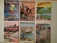 6 carte postale Angoulême 1986 Druillet Norma Bob de Moor  Dumont  Forest Darrow