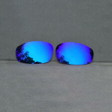 Ice Blue Mirrored Replacement Lenses for-Oakley Split Jacket Polarized