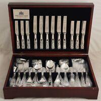 KINGS Design Arthur Price England Silver Service 124 Piece Canteen of Cutlery