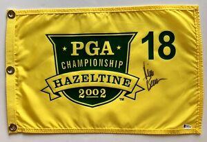 Rich Beem signed 2002 Pga championship Flag hazeltine golf beckett coa