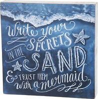PLAQUES & SIGNS - SECRETS IN THE SAND SIGN - NAUTICAL WALL DECOR