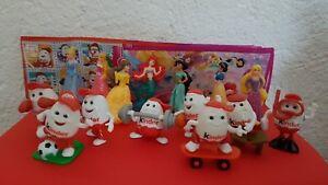 Kinderino  und Disney Princess Komplettsätze mit allen BPZ
