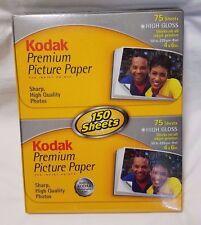 2 Packs Kodak Premium Picture Paper for Inkjet 4x6 75 Sheets High Gloss 150