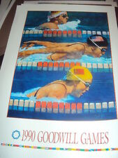 Bart Forbes art print poster 1990 Goodwill Games Seattle swimming