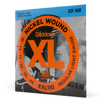 D'Addario Electric Guitar Strings EXL110 Regular Light Set 10-46 Nickel Wound