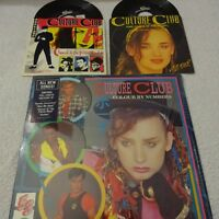 BOY GEORGE~ CULTURE CLUB, COLOUR BY NUMBERS LP & BONUS 45's HYPE STICKER STEREO