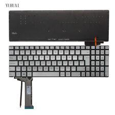 New for ASUS N552VW N552VX N752V Keyboard Backlit Italian Tastiera Silver