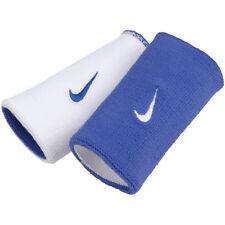 Nike Mens Unisex Tennis Reversible Wristbands Royal/White RF Federer Nadal NWT