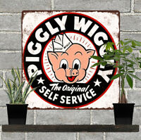 "Piggly Wiggly Grocery Self Service Home Decor Kitchen Metal Sign 12x12"" 60751"