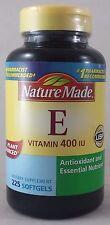 jlim410: Nature Made Vitamin E (d-Alpha Tocopherol) Plant Sourced, 225 Softgels