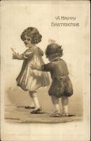 Easter - Little Girl & Boy Gottschalk Dreyfuss & Davis c1910 Postcard