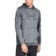 Mens Under Armour Performance Fleece Logo Pullover Hoodie GRAY - 3XL - NWT